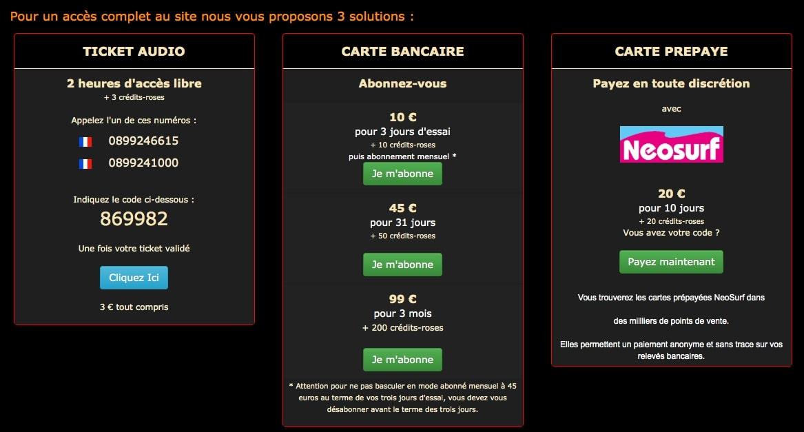 formules d'abonnement sur dress.fr